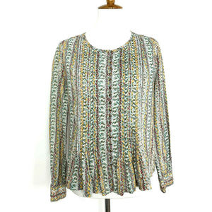 Anthropologie Maeve Gelise Button Blouse S Floral